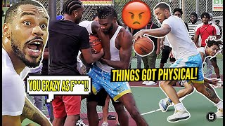 """""""YOU WEAK AS SH**!"""" Ballislife Midwest Squad ILLINOIS Park Takeover Got PHYSICAL! *FIGHT BROKE OUT!*"""
