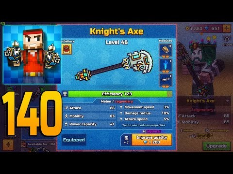 Pixel Gun 3D - Gameplay Walkthrough Part 140 - Knights Axe