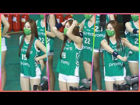 [4K] 치어리더 유세리 직캠 (cheerleader) - 3/4쿼터 응원 모음 @남자농구(원주DB)/210…