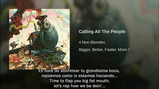 4 Non Blondes Calling All The People Traducida Al Español