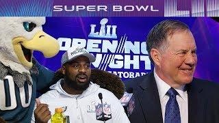 Funniest and Weirdest Moments of Super Bowl LII Media Night   NFL - dooclip.me