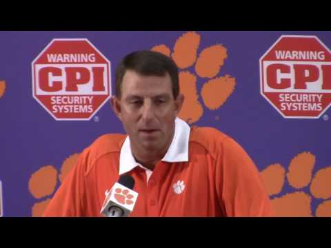 TigerNet.com - Dabo Swinney BC press conference - Part 1 - 10.4.2016