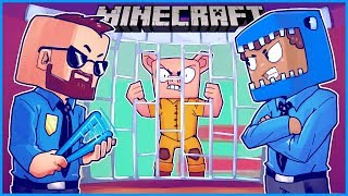 My friends became cops and threw me in jail in Minecraft... ep 19