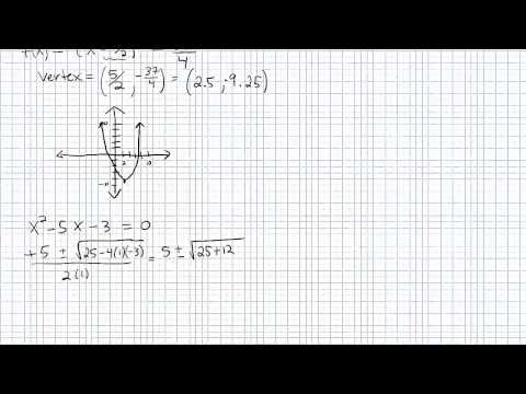 Graphing Quadratic Functions p2