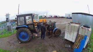 Ремонт трактора МТЗ-82, его раскатка. Изьяли колеса с ЮМЗ-6. (65,66-День 3-Сезона)