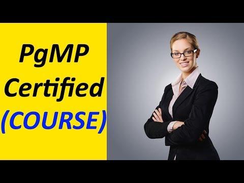 PgMP Certification Online Video Training Course (Program ...