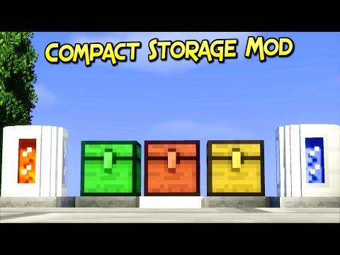 Compact Storage Mod | Guarda Tus Recursos Con Estilo | Minecraft 1.12.2 – 1.7.10 | Review En Español