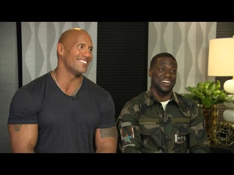 Kevin Hart and The Rock Funny Moments 2017 Compilation (видео)
