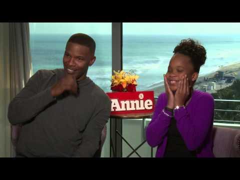 Jamie Foxx and Quvenzhané Wallis Talk 'Annie' Remake & Being Starstruck by Beyoncé
