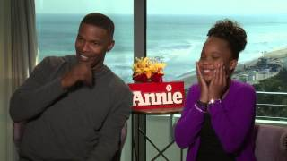 Jamie Foxx and Quvenzhané Wallis Talk 'Annie' Remake & Being Starstruck by Beyoncé