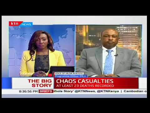 IMLU program officer Hilda Nyatete's reaction to police and interaction with Kenyans
