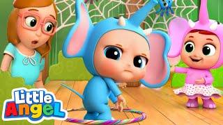 10 Little Elephants | Elephant Song | Nursery Rhyme & Kids Songs Little Angel