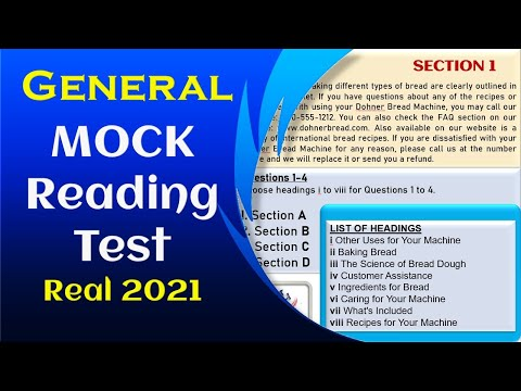 IELTS General Reading Test 2021 - with Answers - Important One ...