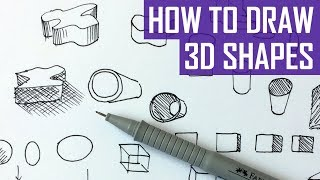 How to Draw 3D Shapes - Exercises for Beginners