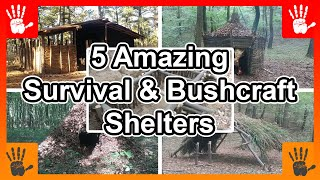 5 Amazing Survival & Bushcraft Shelters