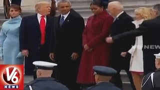 Obama Leaves White House After Trump Sworn In As US President | V6 News