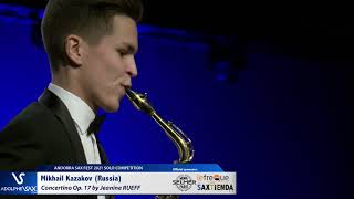 Mikhail Kazakov plays Concertino by J.RUEFF – Andorra Sax Fest FINAL ROUND