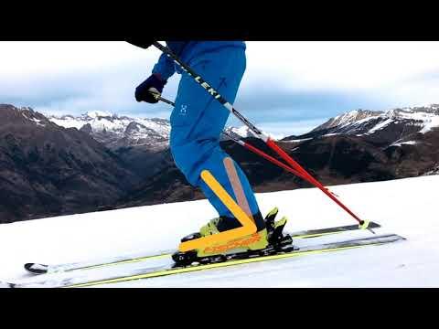 Esquí alpino: flexión de tobillo. Posición básica de esquí