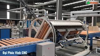 MÁY GẮP VÁN, LẬT MẶT TỰ ĐỘNG CHO CHUYỀN PHỦ MẶT Arcrylic, Laminate, PVC | Công nghệ 4.0