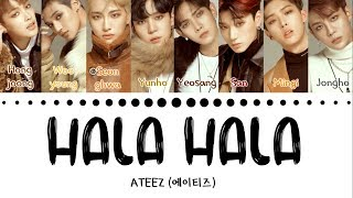 Gambar cover ATEEZ (에이티즈) - 'HALA HALA' (Hearts Awakened, Live Alive) (Color Coded Lyrics Eng/Han/Rom/가사)