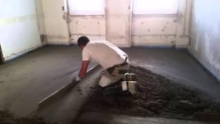 Zementestrich  Abziehen  Rheo  Rapid