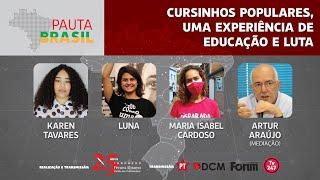 #aovivo | Cursinhos Populares, uma experiência de educação e luta | Pauta Brasil