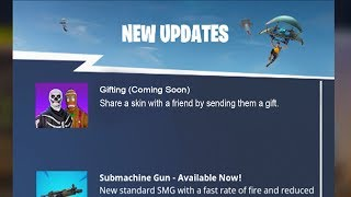 NEW FORTNITE UPDATE! NEW GIFTING SYSTEM IN FORTNITE SOON! (FORTNITE GIFTING SYSTEM)