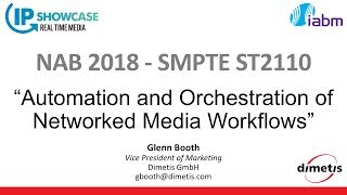 Dimetis Invited to Speak on SMPTE 2110 Standard at NAB2018