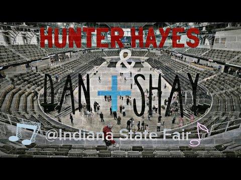 Hunter Hayes and Dan + Shay at Indiana State Fair.