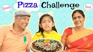 "Follow Insta for Bloopers: https://tinyurl.com/MyMissAnand  Here is a fun Pizza Challenge with my grandparents. I really enjoyed doing this challenge with them and you must try this with your grandparents too. I am sure you will enjoy this as much as i did!   I am sure you'll love it & if you do then do LIKE & SHARE it ... Let's Target 1,00,000 LIKES ...  CREDITS :  Directed by - Vikram Chaudhary Written By - Nisha Topwal Edited By - Shubham Raj Verma  Actors - Anantya Anand, Dadu & Dadi  My AWESOME Channels:  SUBSCRIBE To ShrutiArjunAnand - https://goo.gl/1gmCTA SUBSCRIBE to Toy Stars - https://goo.gl/HyGNLf SUBSCRIBE To MyMissAnand - https://goo.gl/mnBhXg SUBSCRIBE To Anaysa - https://goo.gl/5A2h93 SUBSCRIBE To CookWithNisha - https://goo.gl/Kep2iS SUBSCRIBE To LafanGAY - https://goo.gl/XRHDrq  XoXo Miss Anand  NEW UPLOADS every FRIDAY!!!  AUDIO DISCLAIMER/CREDITS – ""Music from Epidemic Sound (http://www.epidemicsound.com)""   ** funy blogger youtube family vlog comp laugh then sketch good vs reality roleplay india vlog shruti anand comedy types of people in real life daily vlog funny videos 2018 anantya mymissanand funny girl shrutiarjunanand travel vlogs vines humor blogging trending now bloopers behind the scenes tv serials pals ylyl hindi vloggers cute letsplay"