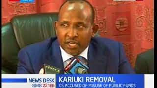 Majority leader Aden Duale reveals why Jubilee rescinded the motion against CS Kariuki
