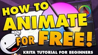 How To Animate in Krita for Beginners - FREE ANIMATION SOFTWARE!