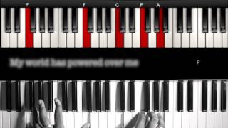 KWABS - Perfect Ruin - Piano Instrumental - Walkthrough - Lyrics - Learn and Play!!!