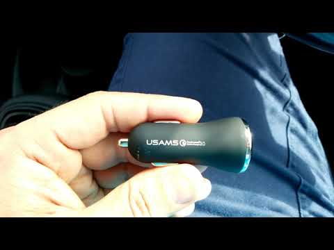 USAMS 18W Dual 2 Port USB Car Charger from Banggood