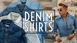 How To Style Denim Shirts || Mens Fashion 2019 || Gents Lounge