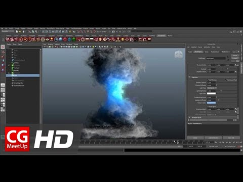 CGI Tutorial HD: Create a Tornado using Maya Fluid by khalil khalilian