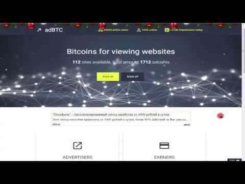 adBTC Ganhe satoshi de Bitcoin totalmente grátis, Retirada direto na carteira ou Faucethub!