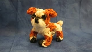 Rainbow Loom English Bulldog Charm. Dog or Puppy 3-D CAGNOLINO /CANE 3D Con Elastici