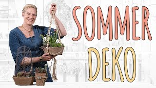 SOMMERLICHE DEKORATION FÜR DEN BALKON UND TERRASSE - DIY
