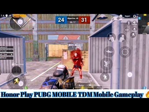 Honor Play PUBG MOBILE TDM Mobile Gameplay 🔥 ! With 16kills and Smooth Graphics @60Fps😍