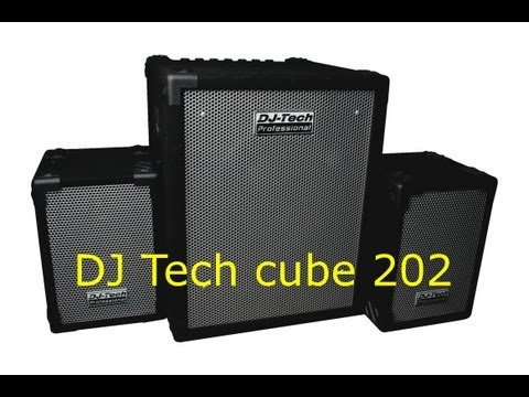 Test und Check DJ Tech cube 202 Mini PA 2.1 System [HD]