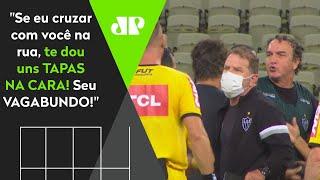 'Vagabundo' e citação a esposa: Olha como Cuca ameaçou Vuaden após derrota do Atlético-MG