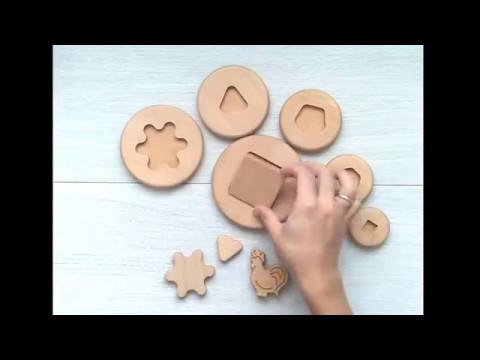 Видео обзор Деревянная пирамидка вкладыш