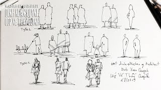 Human Figures For Architecture Drawings - Daily Architecture Sketches (hướng Dẫn Vẽ Người)