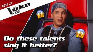 TOP 10 | BEST Auditions With A COACH SONG  In The Voice Kids
