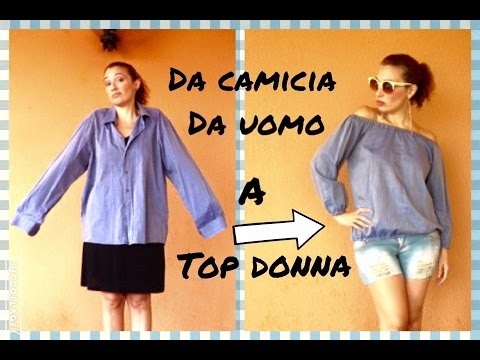 Come trasformare una CAMICIA da uomo in un TOP donna -Tutorial by Diana Toto