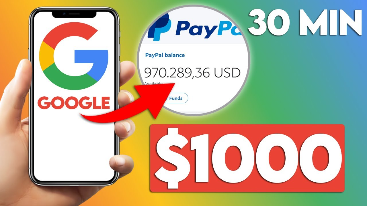 Earn $1000 In 30 Min With Google (Free PayPal Money) thumbnail