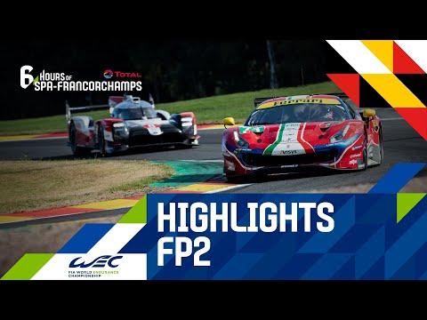 2020 WEC スパ・フランコルシャン6時間耐久レース フリープラクティス2のハイライト動画