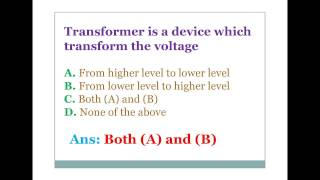 Electrical and electronics engineering objective questions and answers 1