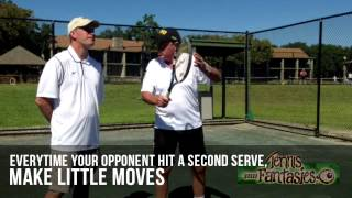 Tennis Tips: John Newcombe Show Sneaky Return Of Serve Tactic